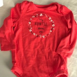 Baby Gap My Auntie Loves Me Onesie